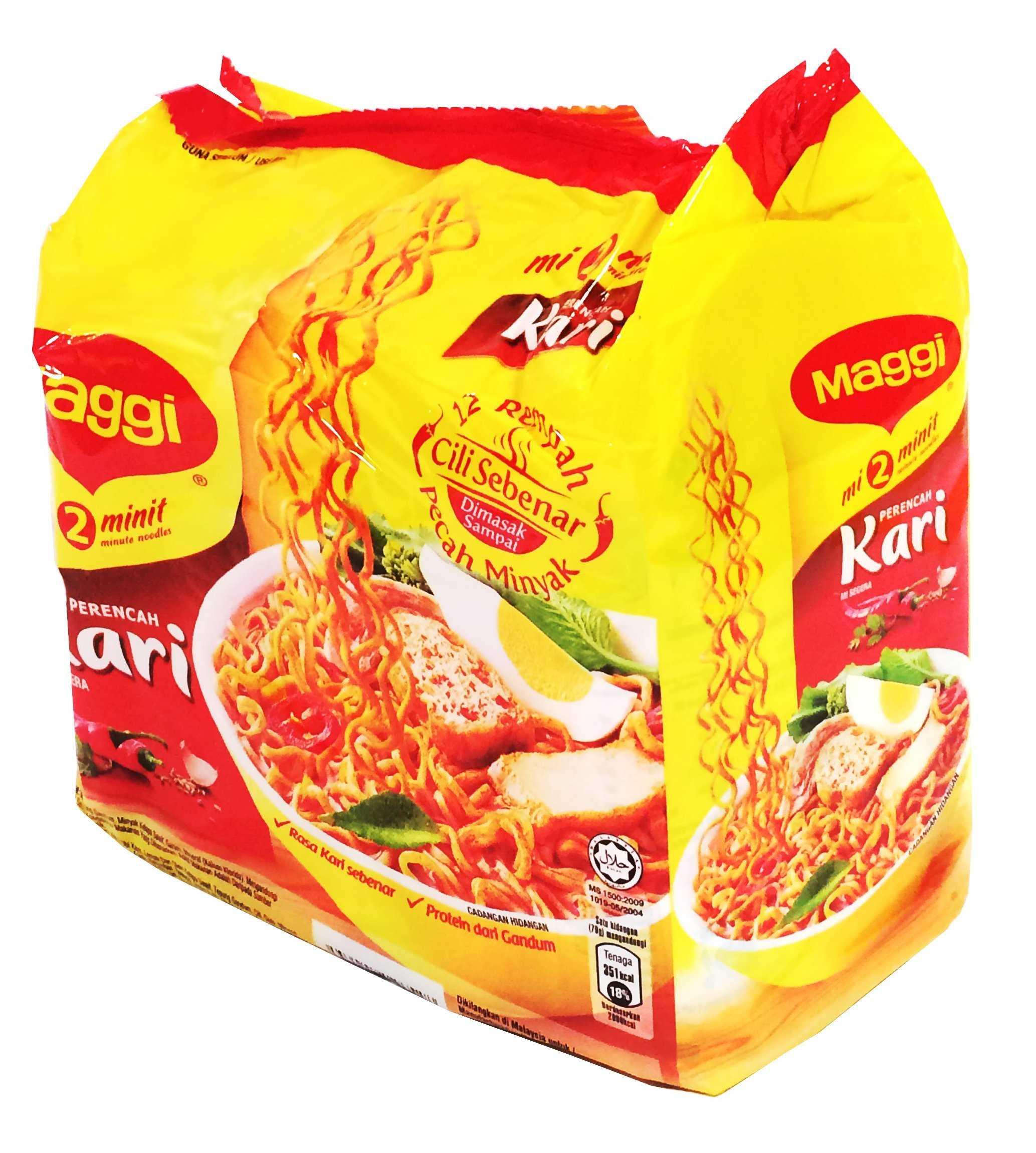 Curry Flavour Instant Noodles 5 x